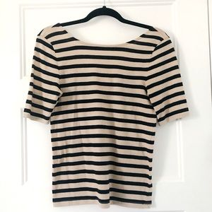 Striped Scoopback Madewell Shirt